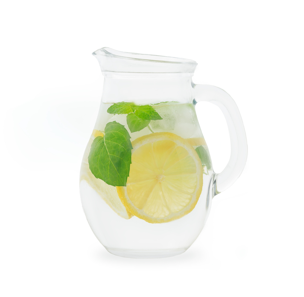 pitcher of lemon water